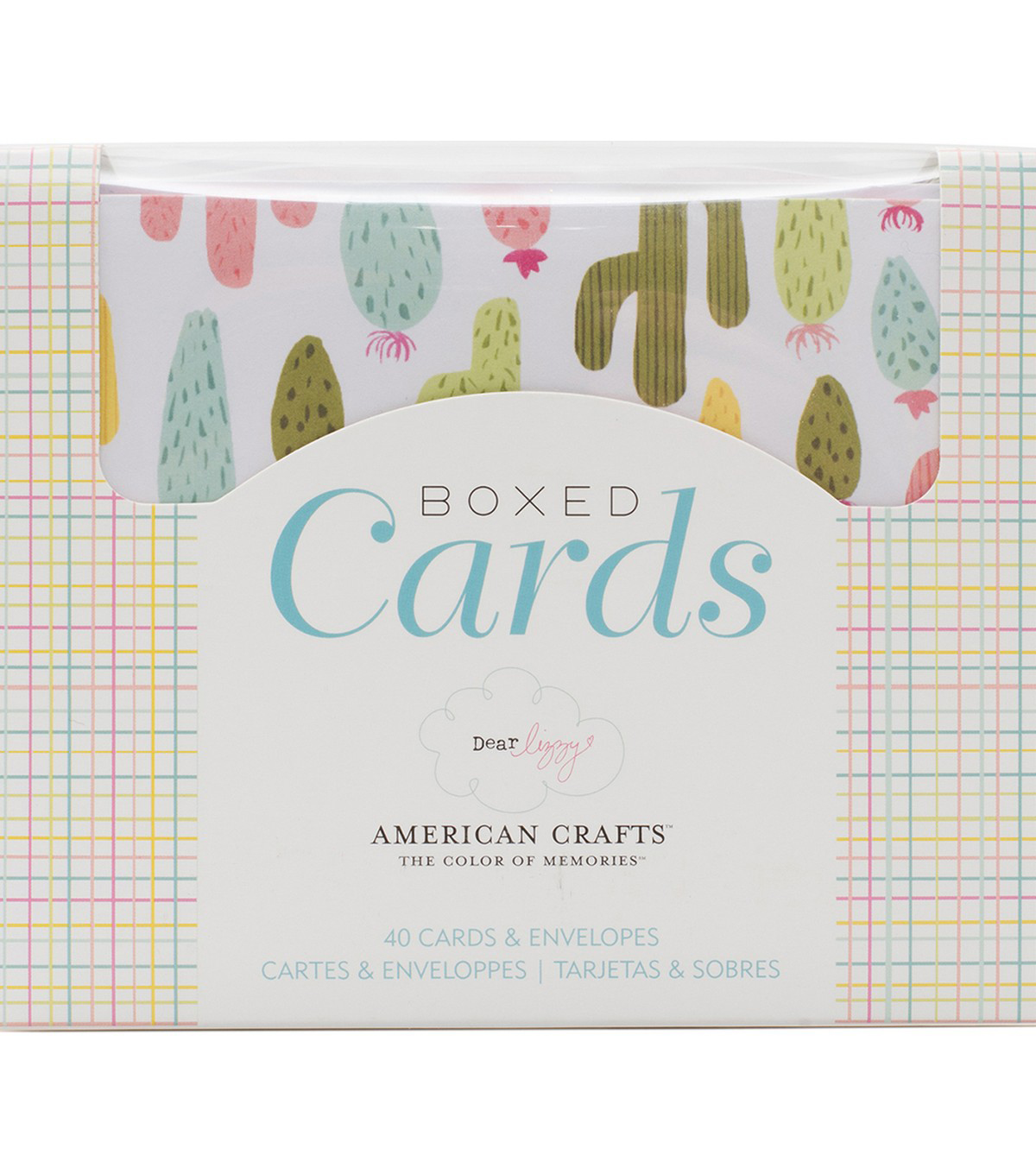 American Crafts Dear Lizzy Happy Place 40 pk A2 Boxed Cards & Envelopes