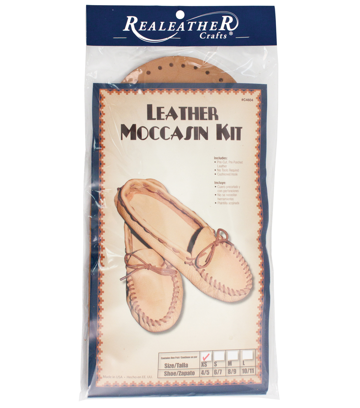 Leathercraft Kit-Scout Moccasin-Size 8/9