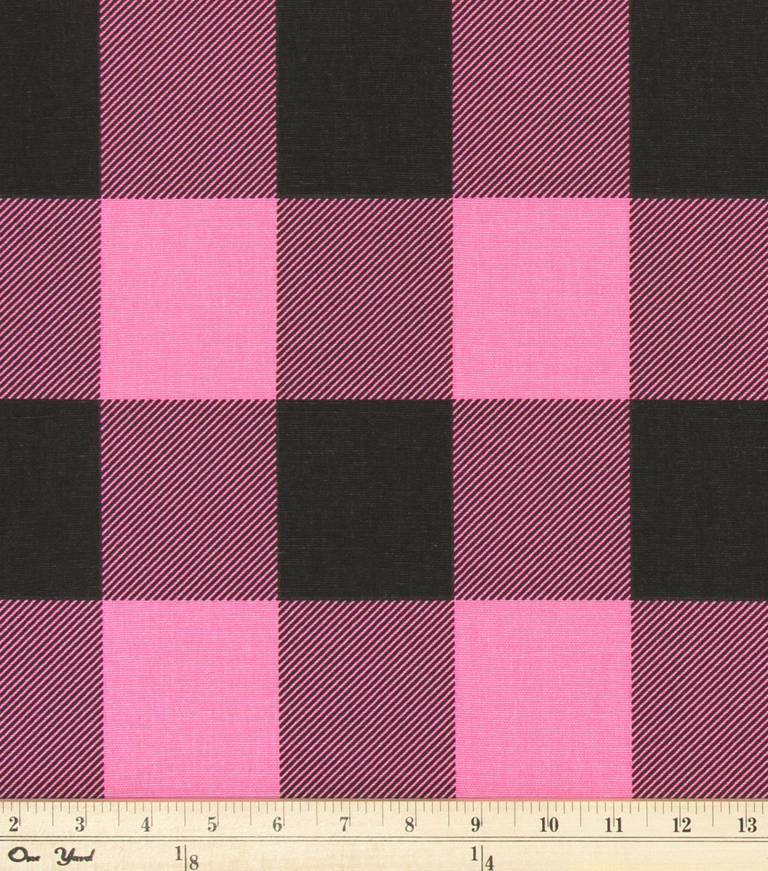 Buffalo Check Polish Pink Black
