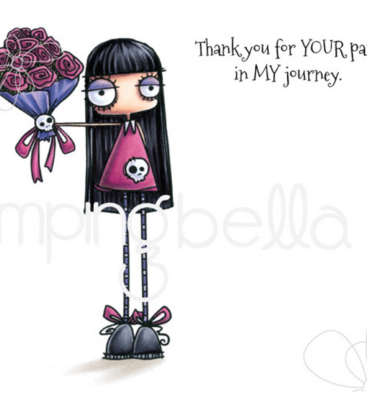 Stamping Bella 2 pk Rubber Cling Stamps-Oddball Bouquet