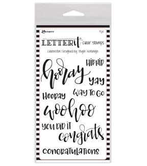 Celebration Letter | Ranger Letter It 9 Pk Clear Stamps Celebration Joann