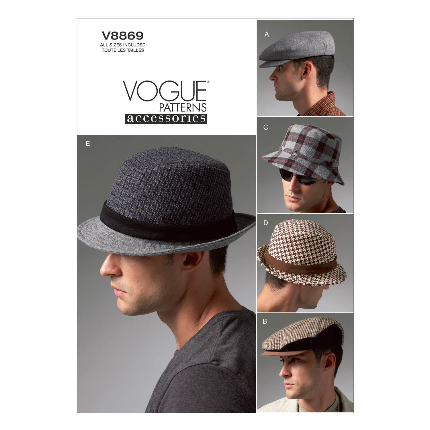 Vogue Patterns Mens Headgear-V8869