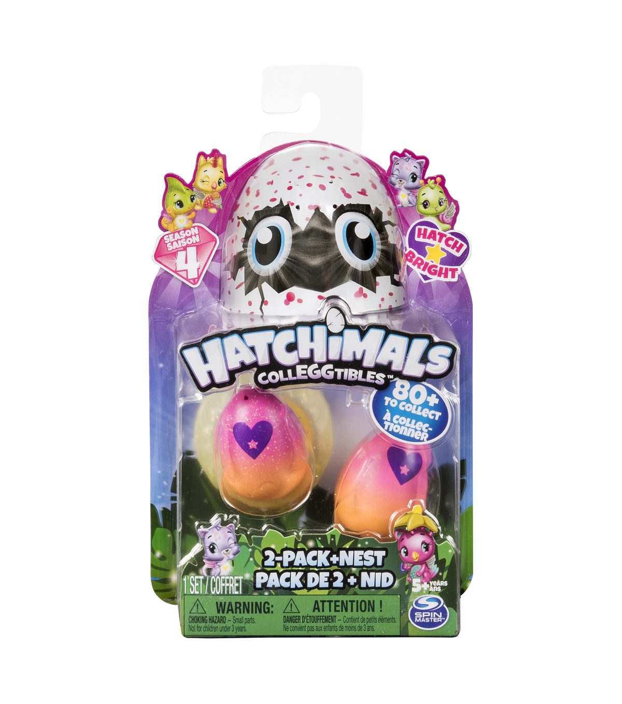 Hatchimals CollEGGtibles Season 4 Hatch Bright 2 pk Eggs with Nest