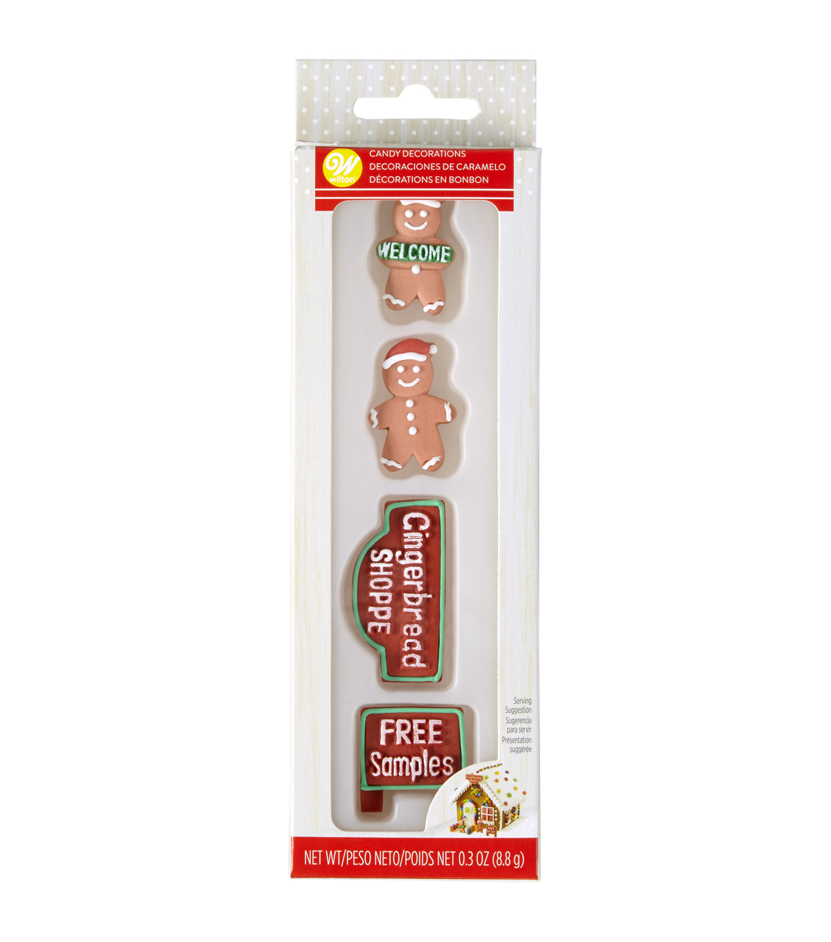 Wilton 4 pk Gingerbread Men & Holiday Signs Candy Decorations