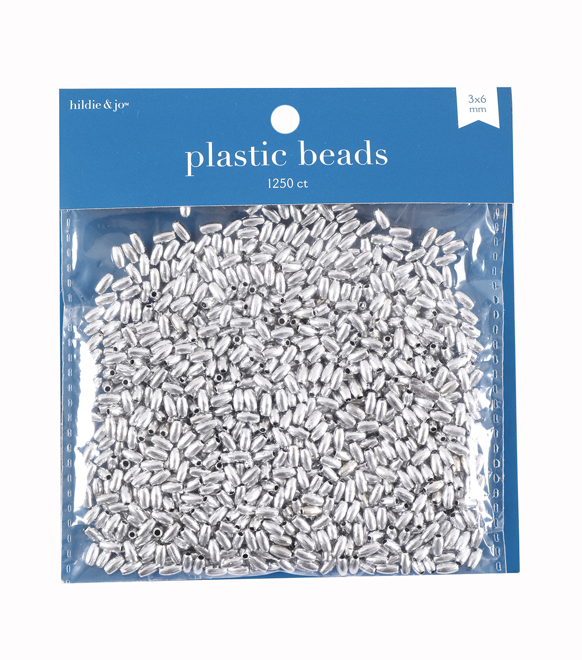 Darice 3mm Oval Beads-1250PK/Silver