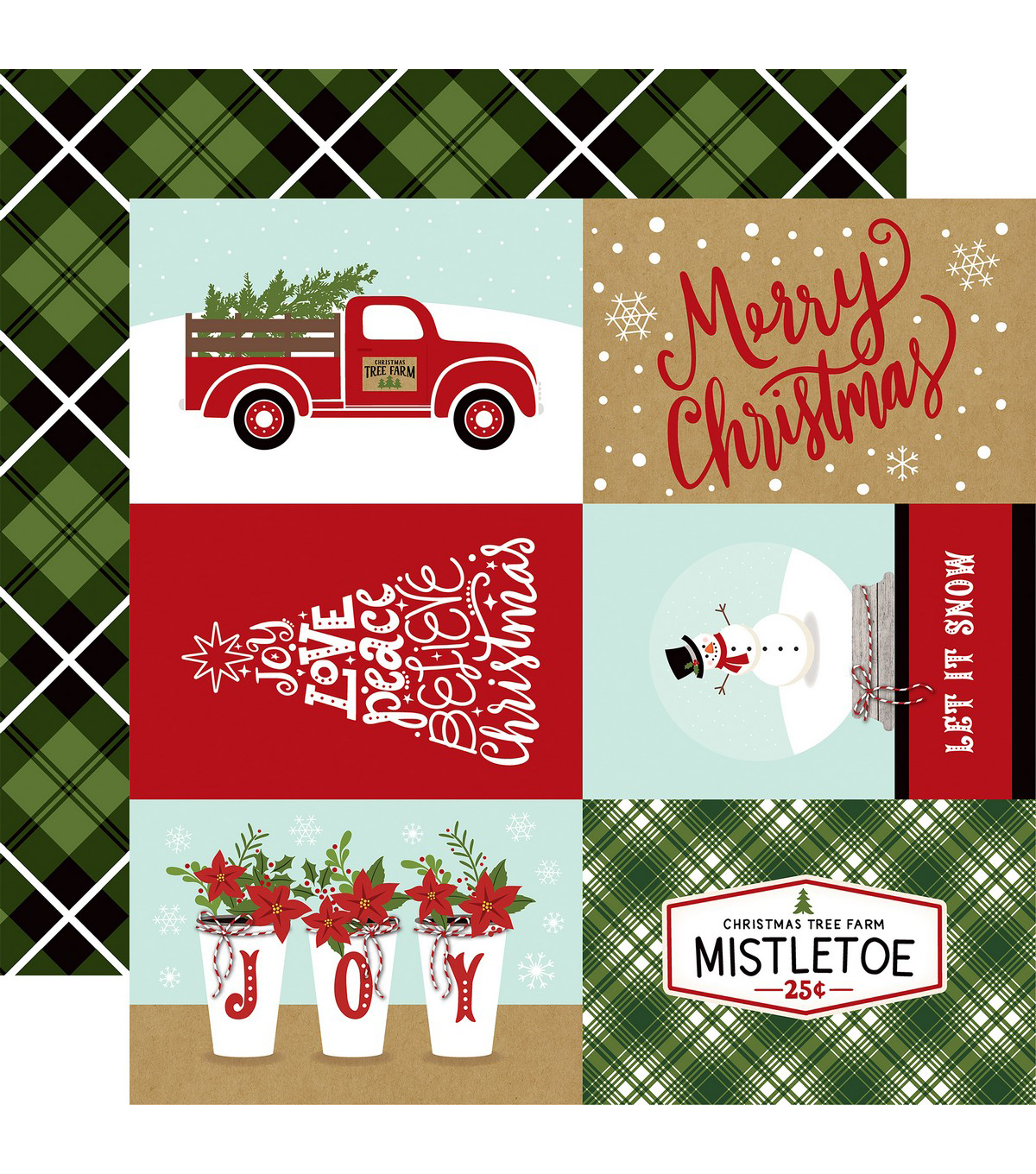 Celebrate Christmas Double-Sided Cardstock 12X12-4x6 Journaling ...