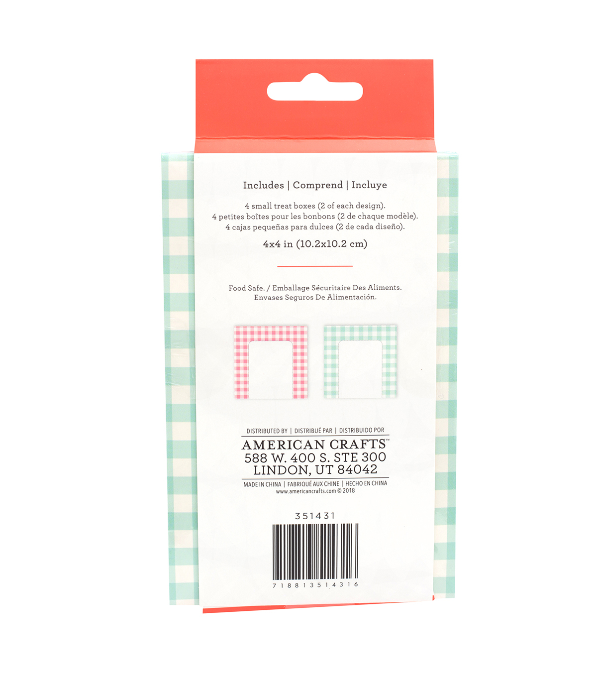 Homemade with Love 4 pk Small Treat Boxes-Picnic