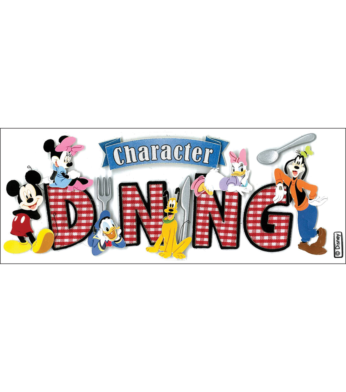 Disney Title Dimensional Sticker-Mickey/Character Dining