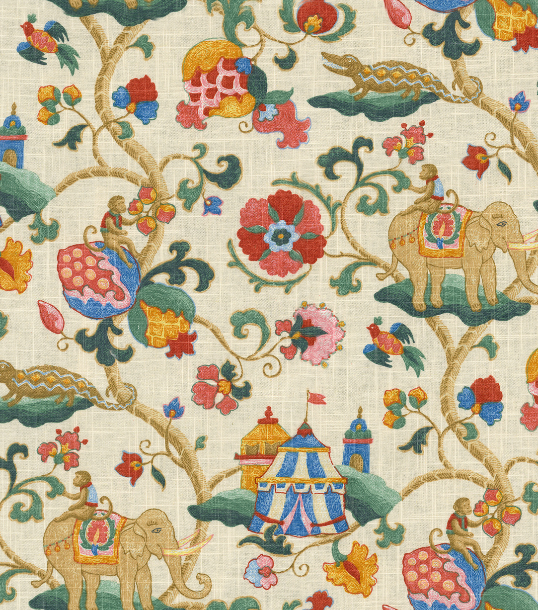 Home Decor 8\u0022x8\u0022 Fabric Swatch-Pkaufmann Uzbek Jewel