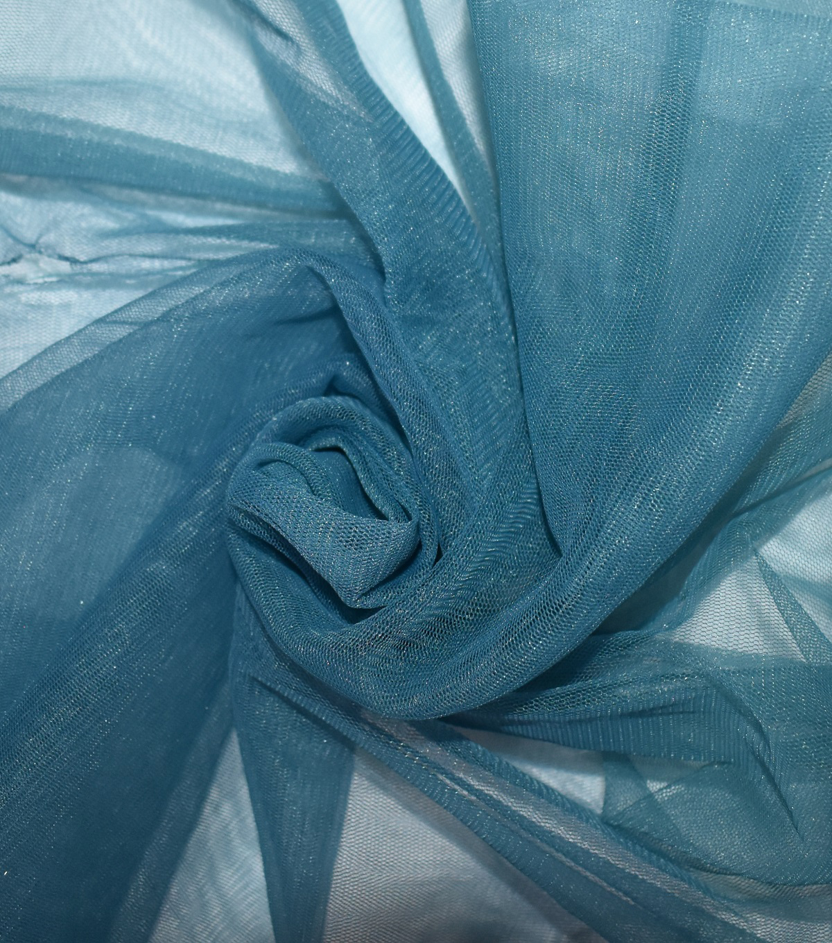 Casa Collection Solid Tulle Fabric 57\u0027\u0027, Blue Coral