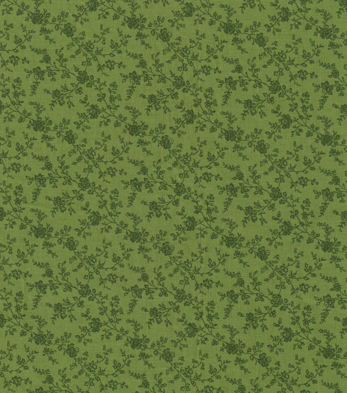 Keepsake Calico Cotton Fabric -Green Vine