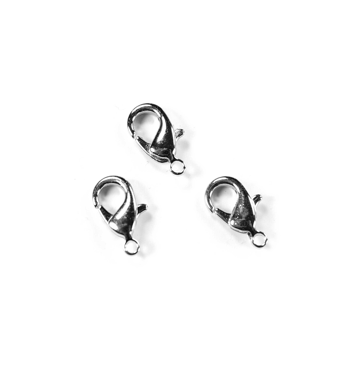 Blue Moon Findings Clasp Metal Lobster 12mm Silver