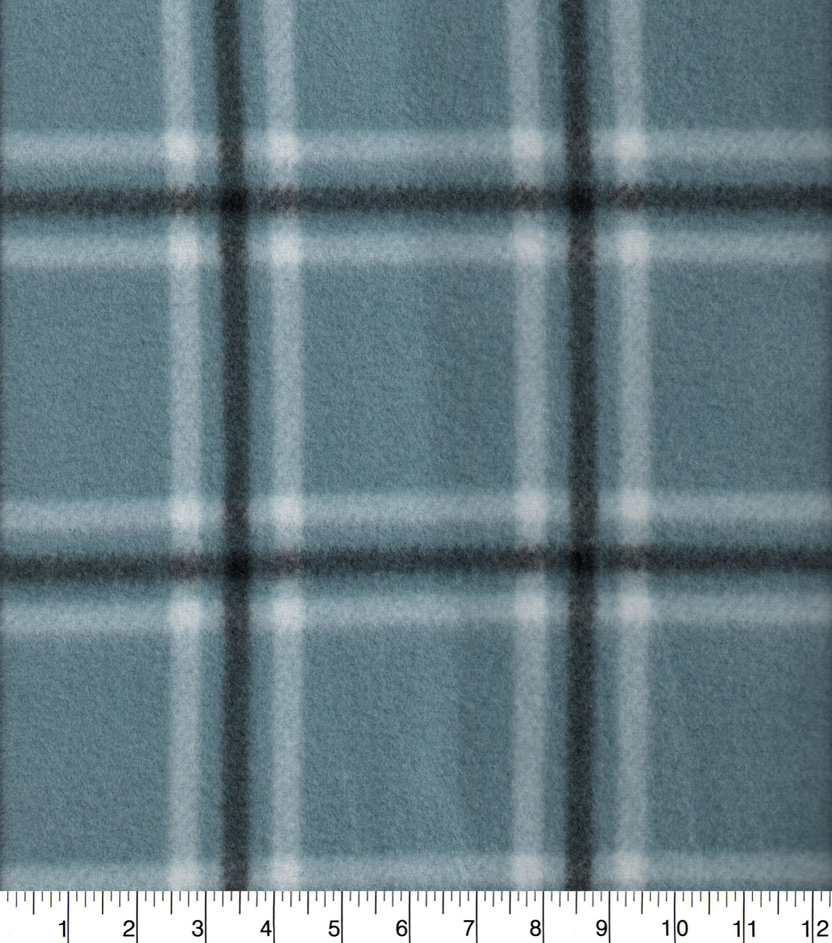 Blizzard Fleece Fabric-Blake Blue & Black Plaid