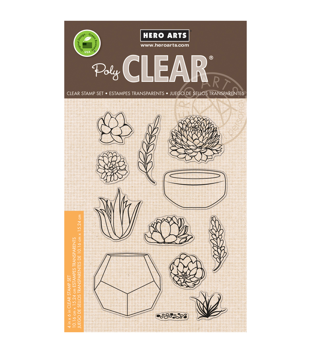 Hero Arts Stamp Your Own Succulents Clear Stamps