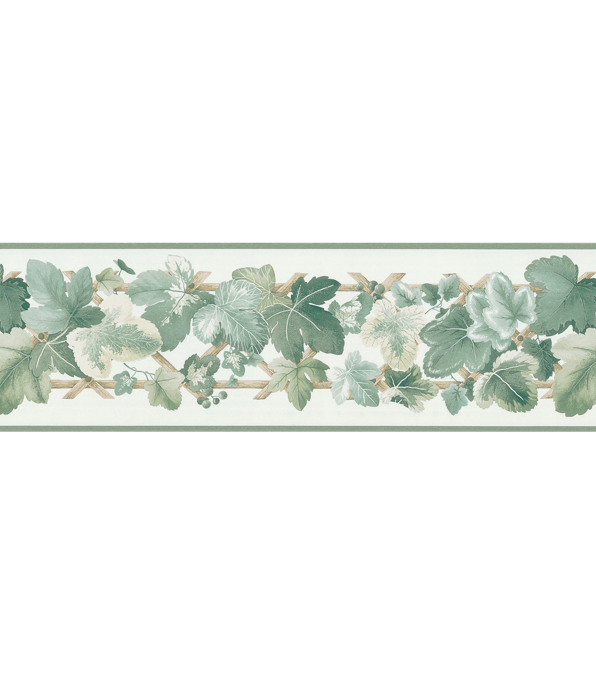 Trauben Green Leaves Wallpaper Border Sample