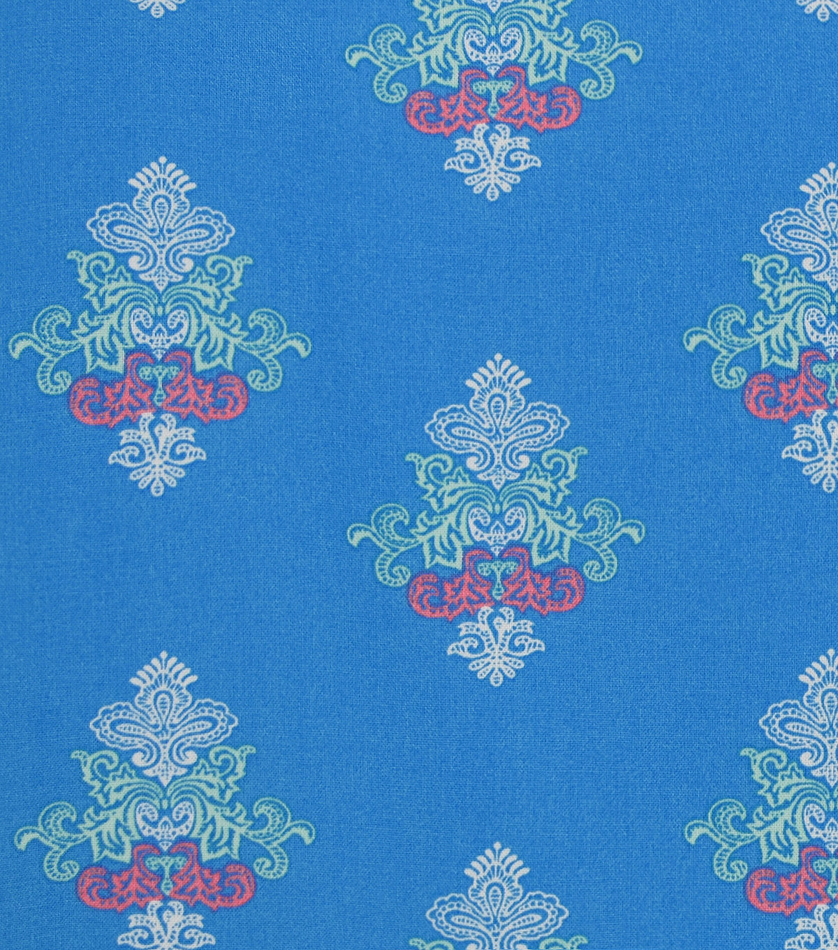 Doodles Juvenile Rayon Apparel Fabric 53\u0027\u0027-Boho Print on Blue