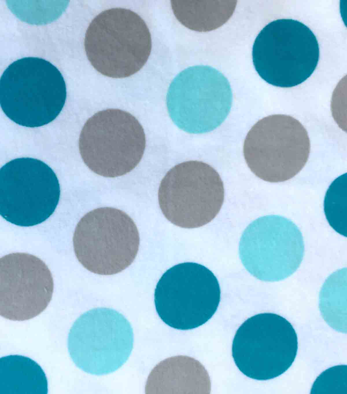 Snuggle Flannel Fabric 42\u0022-Dot Aqua Sky