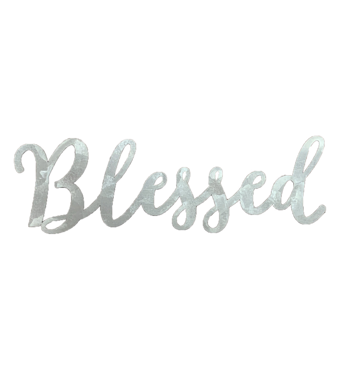 Fab Lab 5\u0022 Galvanized Blessed Sign