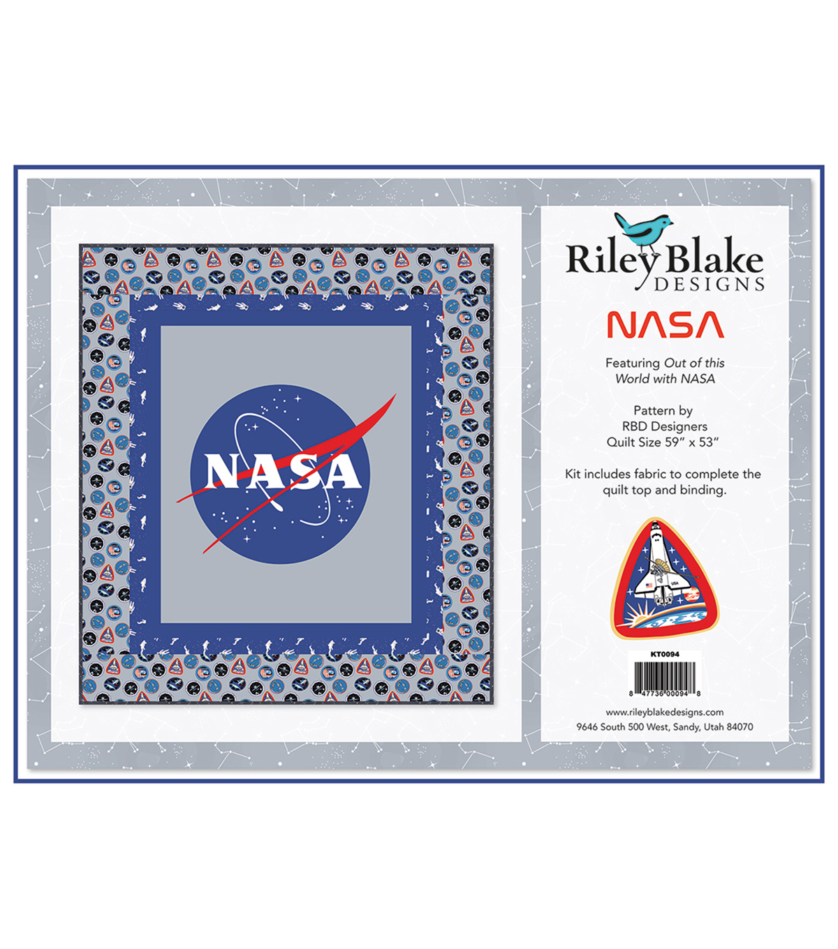 Quilt Kit-Nasa Logo  by Riley Blake