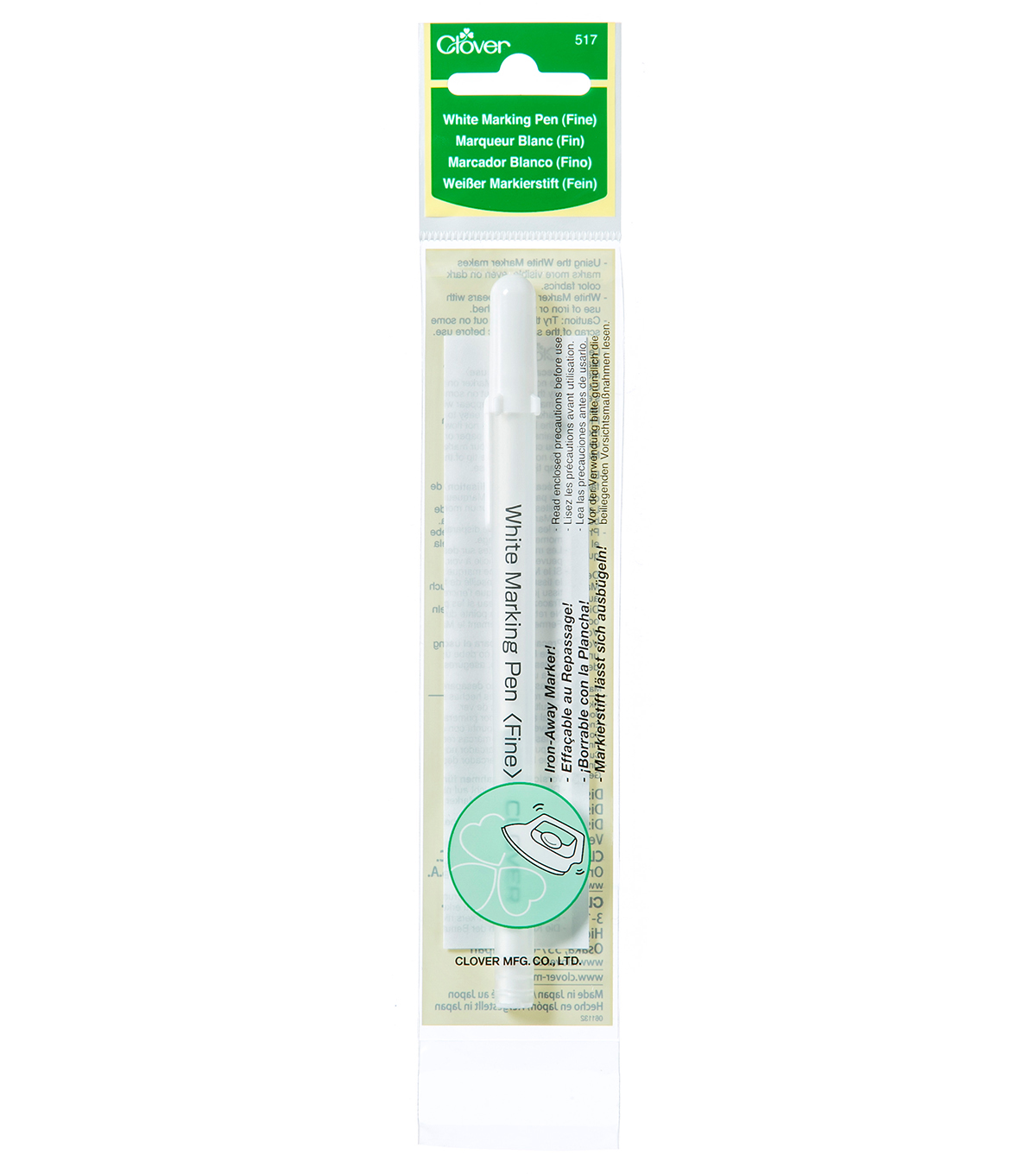 Clover Water Soluble Marker Fine Point-White