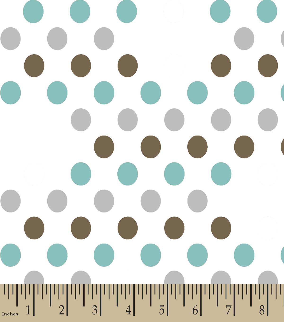 On The Dots Print Fabric