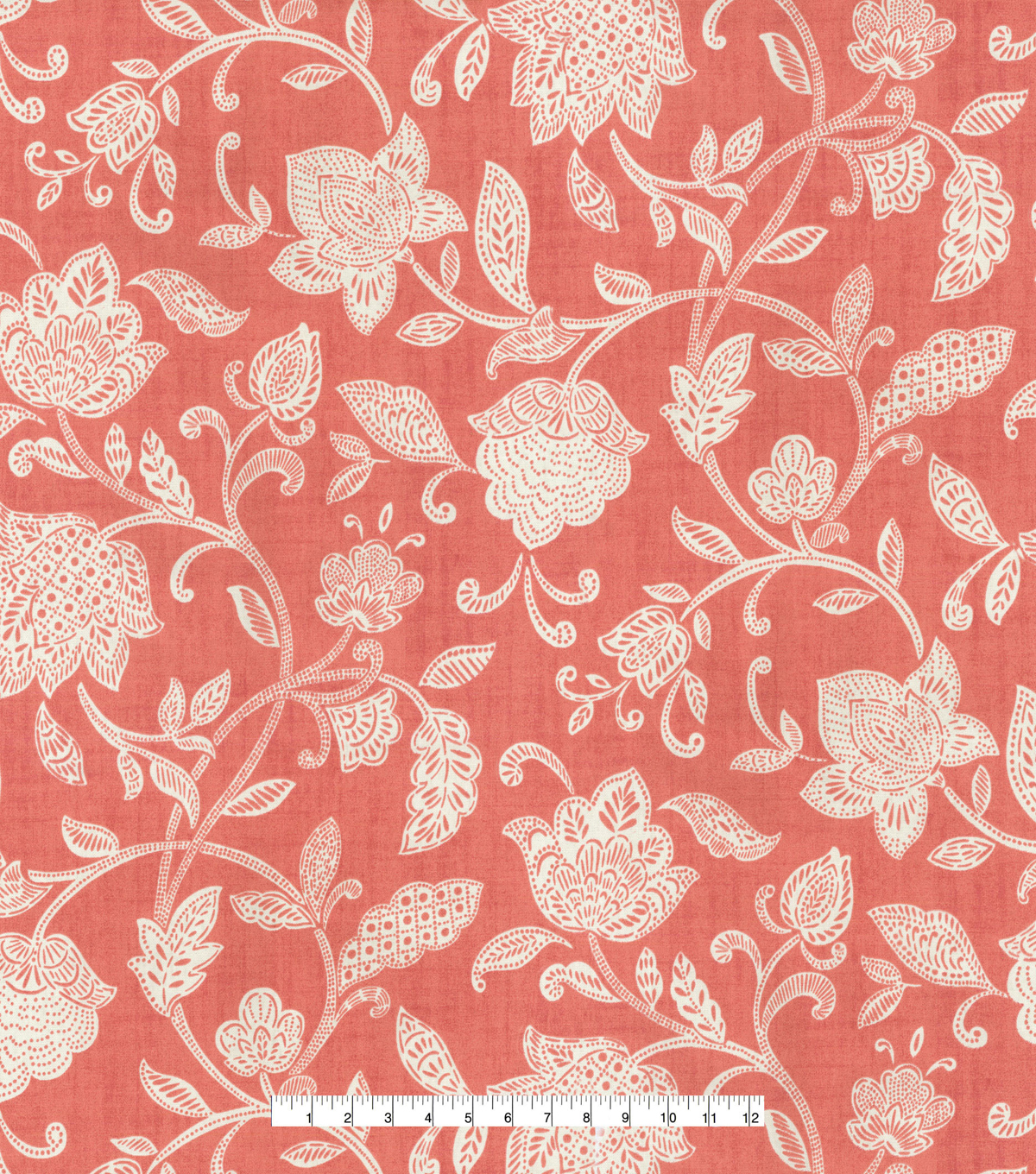 Waverly Upholstery Décor Fabric-Stencil Vine Coral