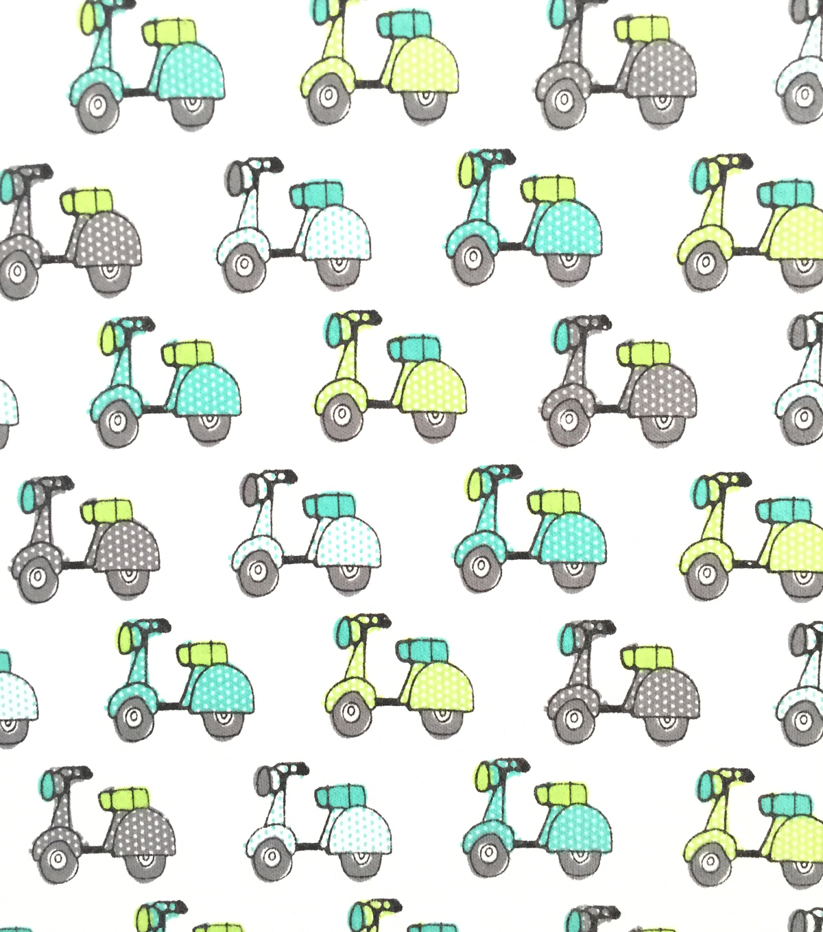 Doodles Juvenile Apparel Fabric -Scooters