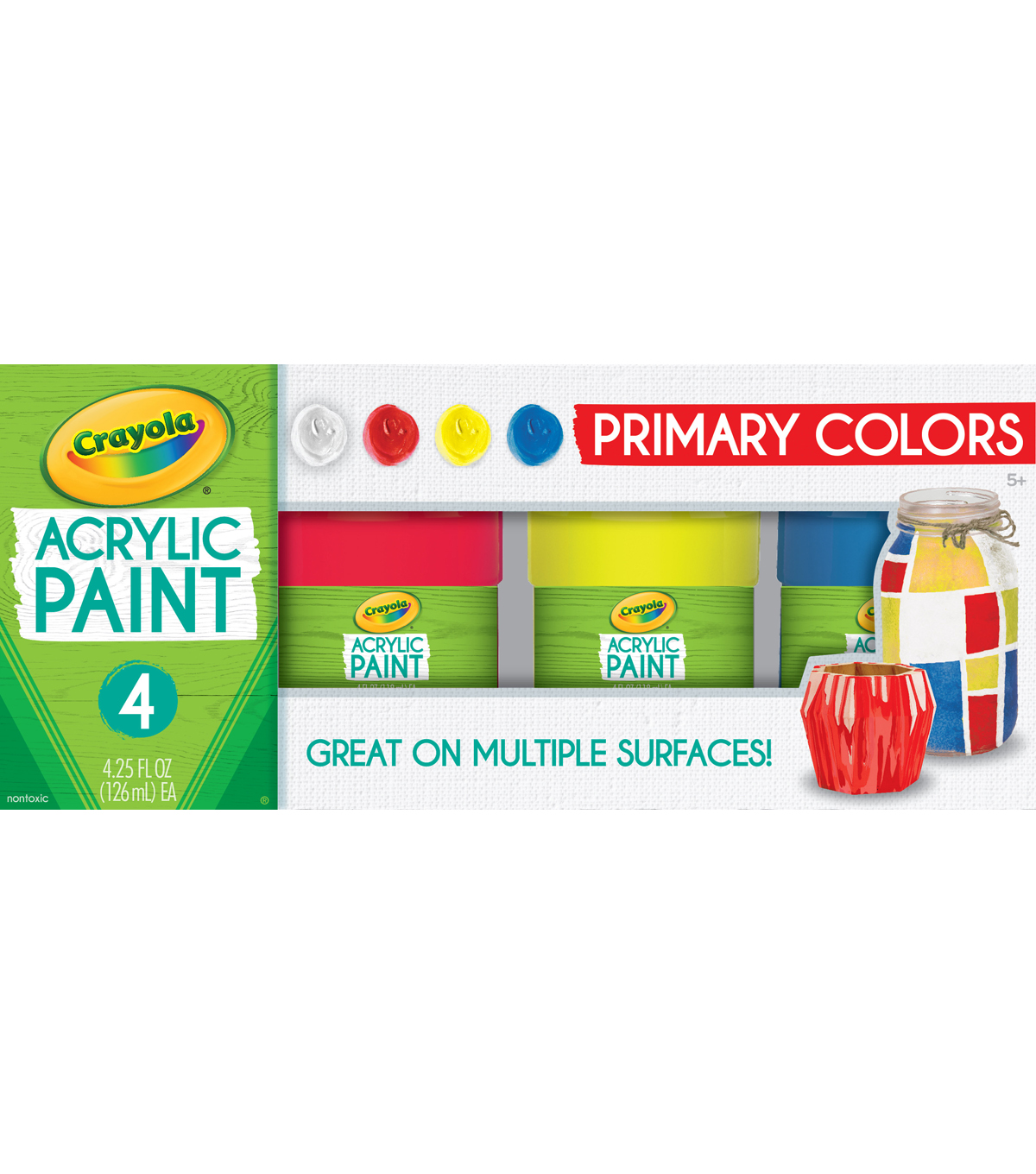 Crayola Acrylic Paint Set 4.25oz 4/Pkg-Primary