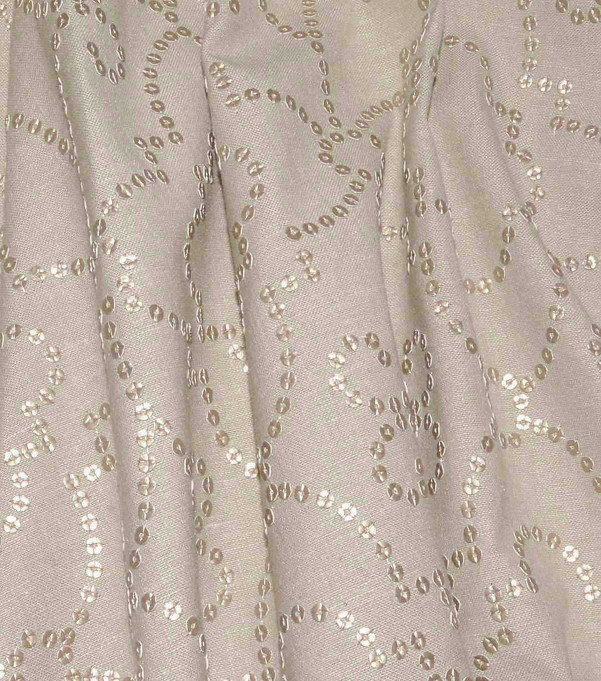 Dena Designs Upholstery Fabric 13x13\u0022 Swatch-Wow Factor Emb Rose Gold