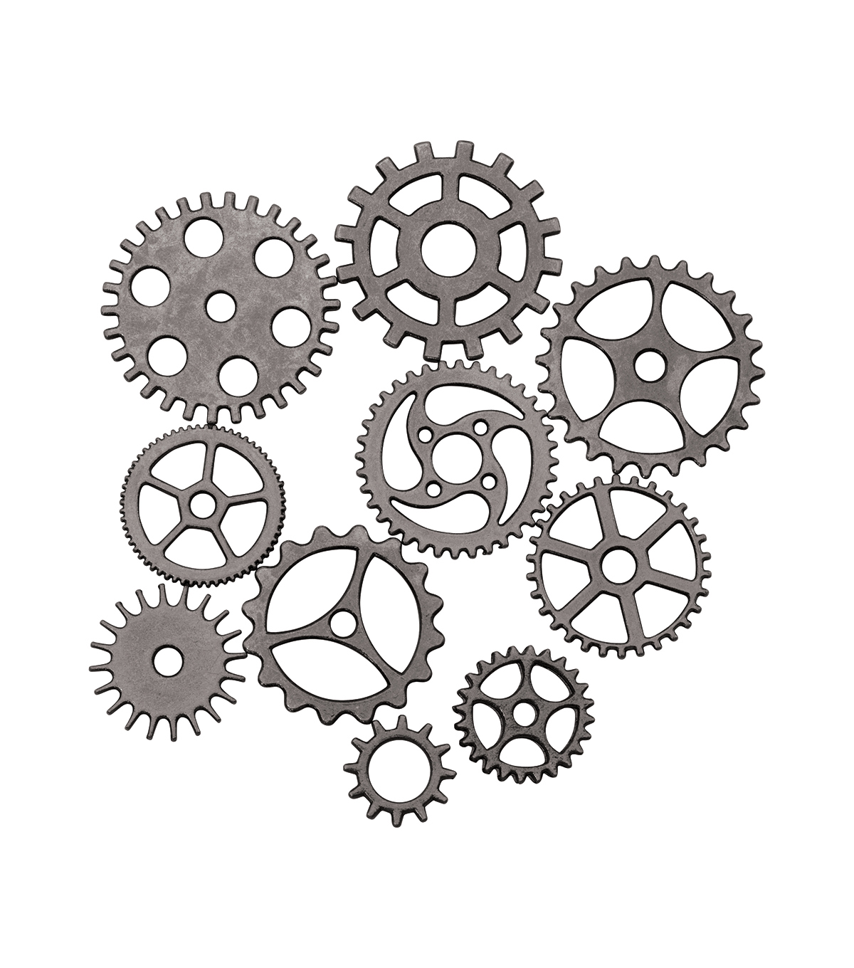 tim holtz assemblage pack of 10 gears cogs charms joann