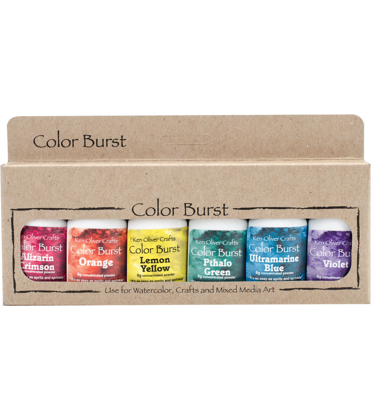 Ken Oliver Crafts Color Burst 6 pk 0.21 oz. Watercolor Powder-Brights