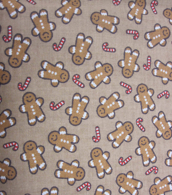 keepsake calico holiday cotton fabric 43u0022 gingerbread men - Christmas Gingerbread