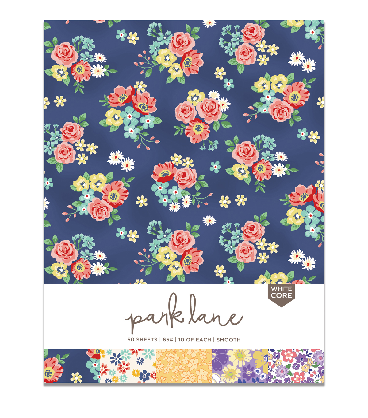 Park Lane 50 pk 8.5\u0027\u0027x11\u0027\u0027 Value Papers-Floral