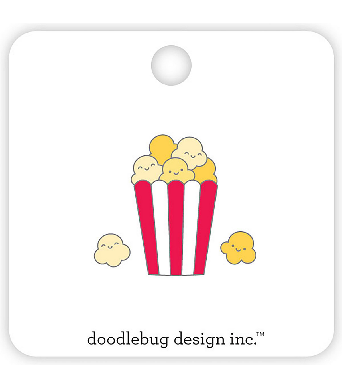 Doodlebug Collectible Enamel Pins 3/Pkg-Popcorn