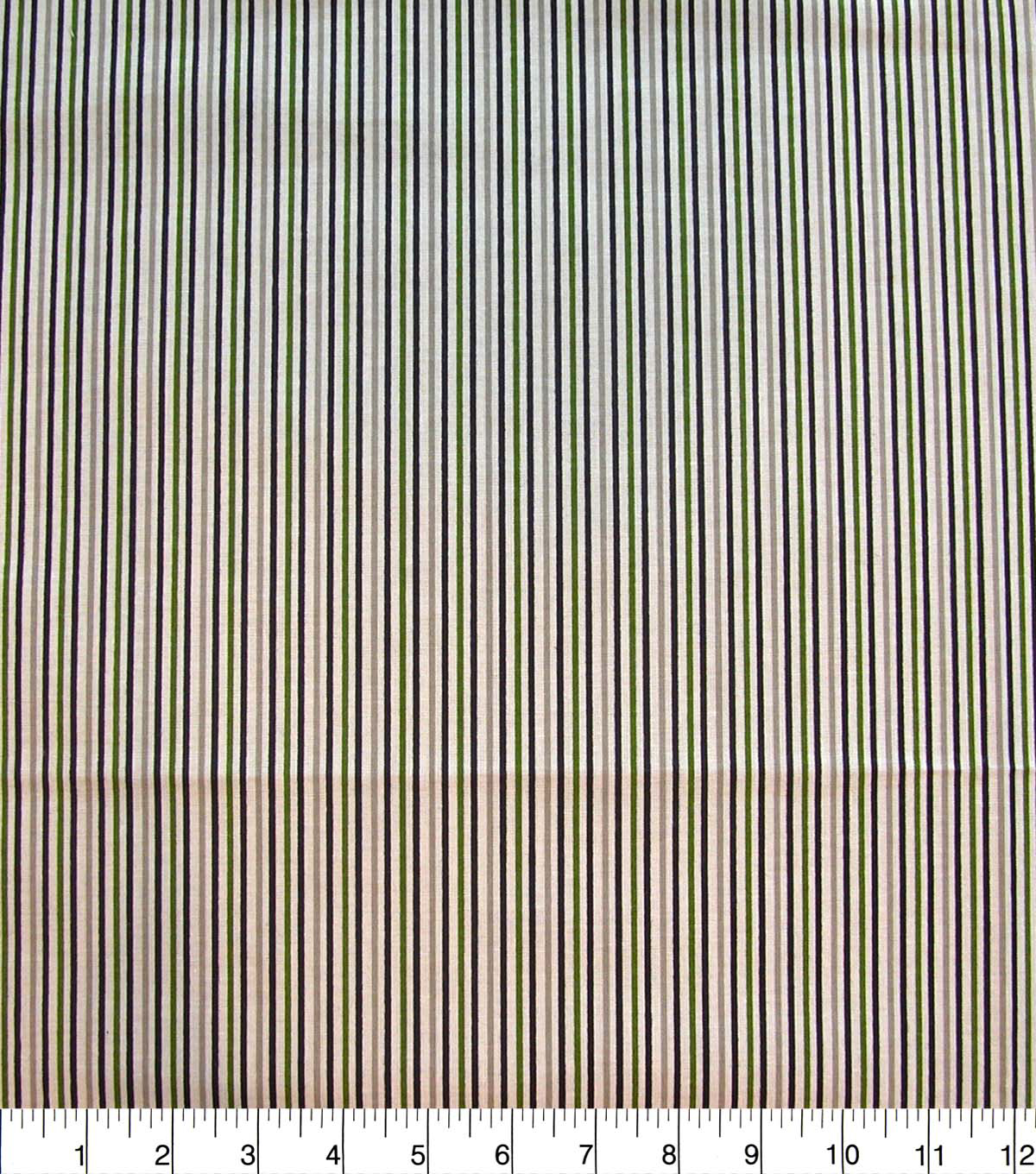 Quilter\u0027s Showcase Cotton Fabric-Navy & Green Stripes