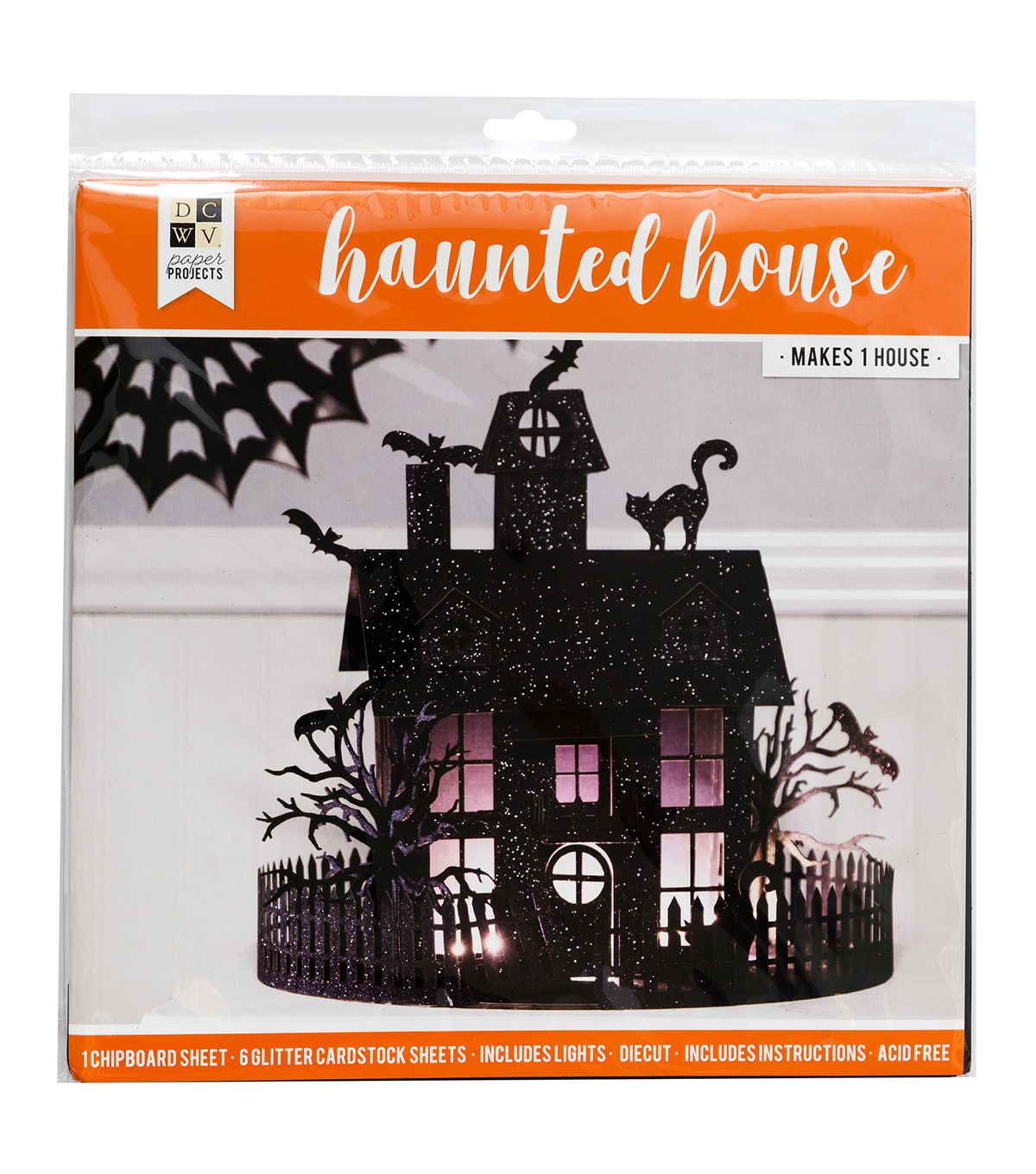 DCWV Halloween Paper Projects-Haunted House