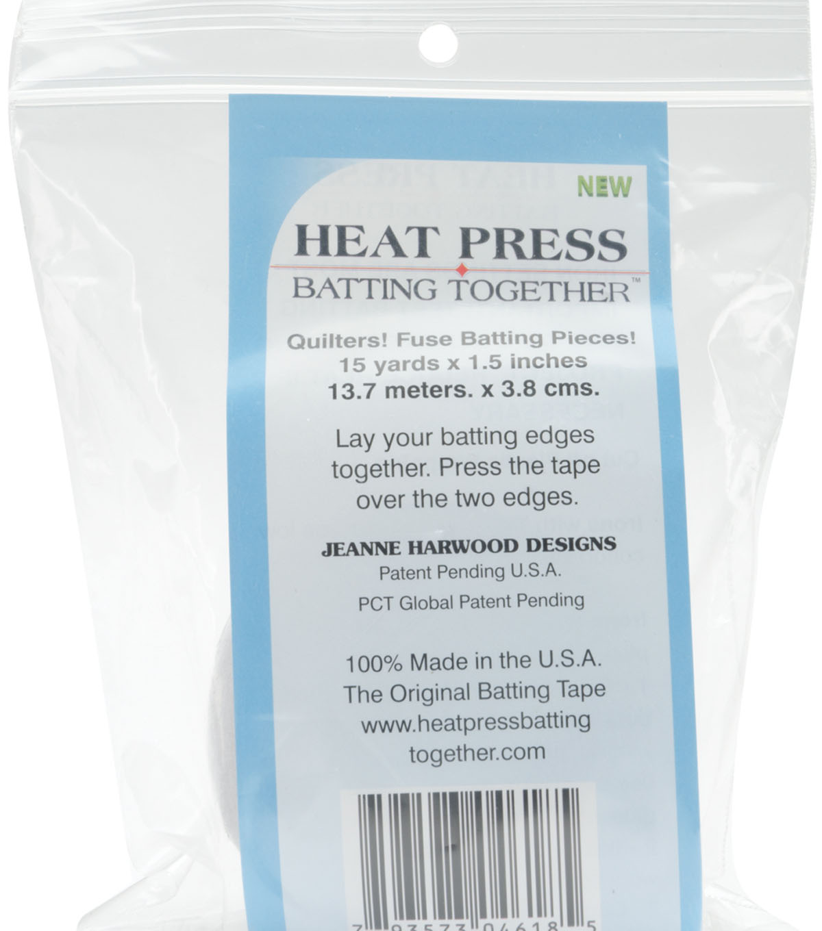 Heat Press Batting Together - White-1.5\u0022X15yd