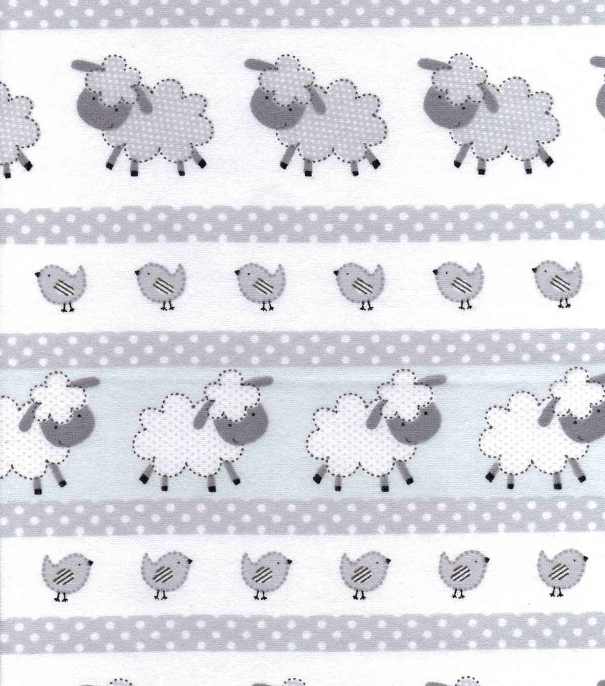 Snuggle Flannel Fabric -Gray Dotted Sheep