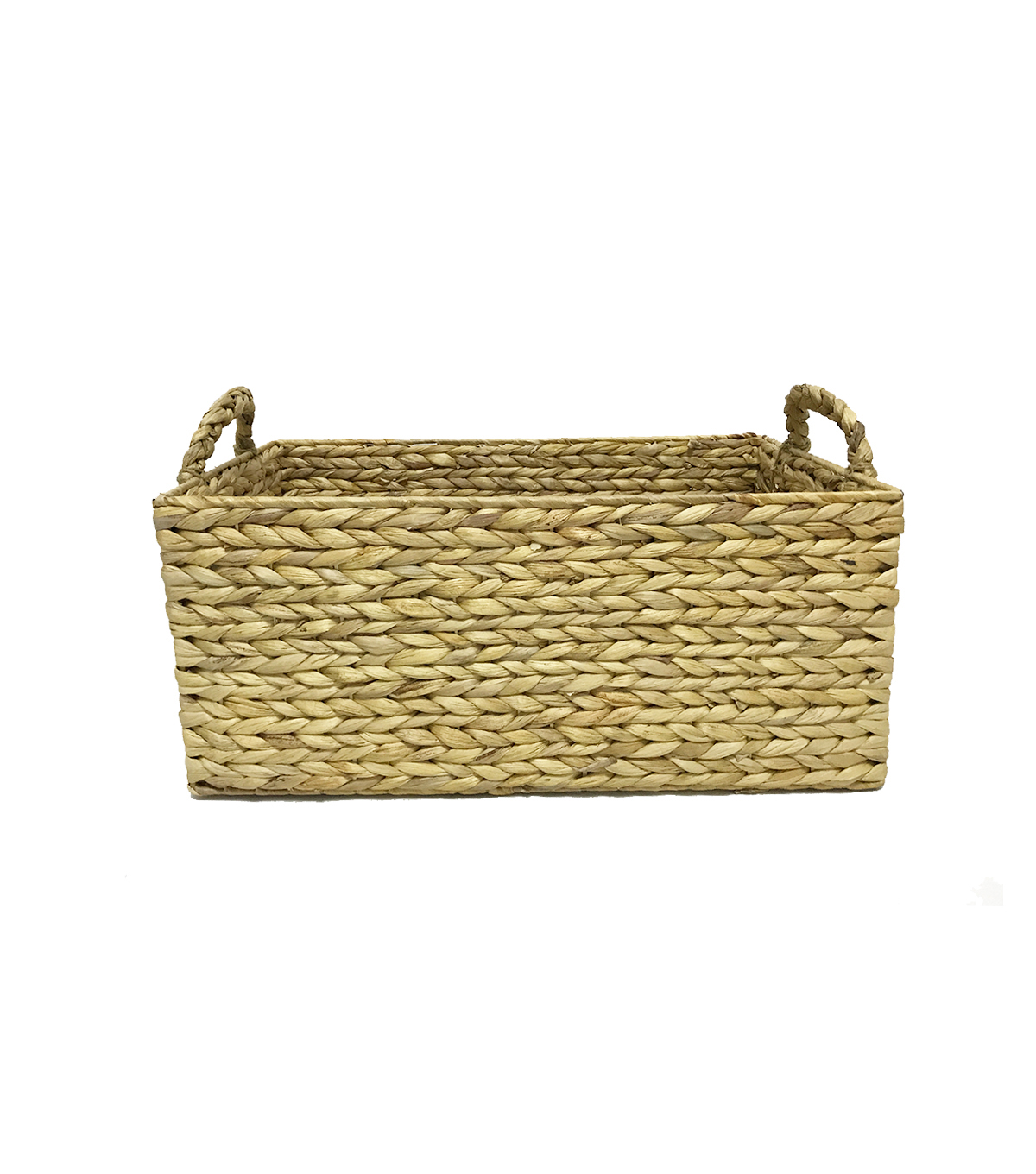 Water Hyacinth Basket-Natural