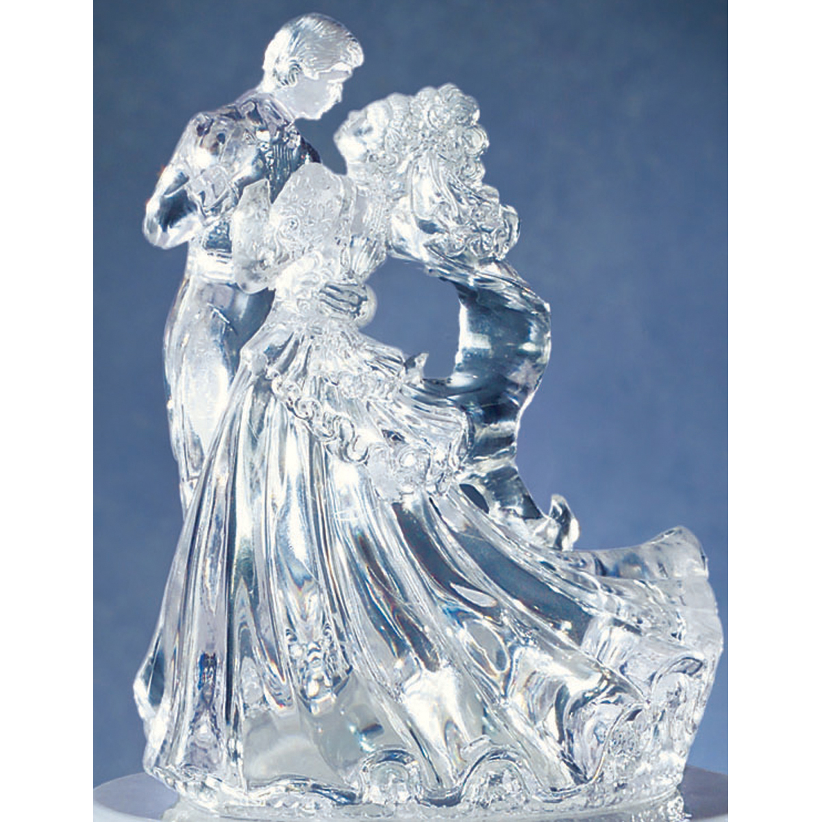 Wilton 5\u0022 Wedding Cake Topper-Clear