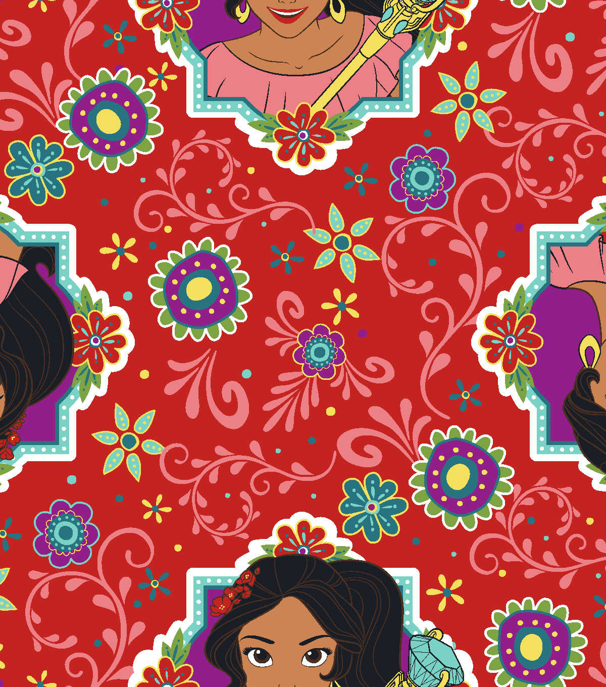 Disney Elena of Avalor Fleece Fabric 59\u0027\u0027-Spirit of Avalor