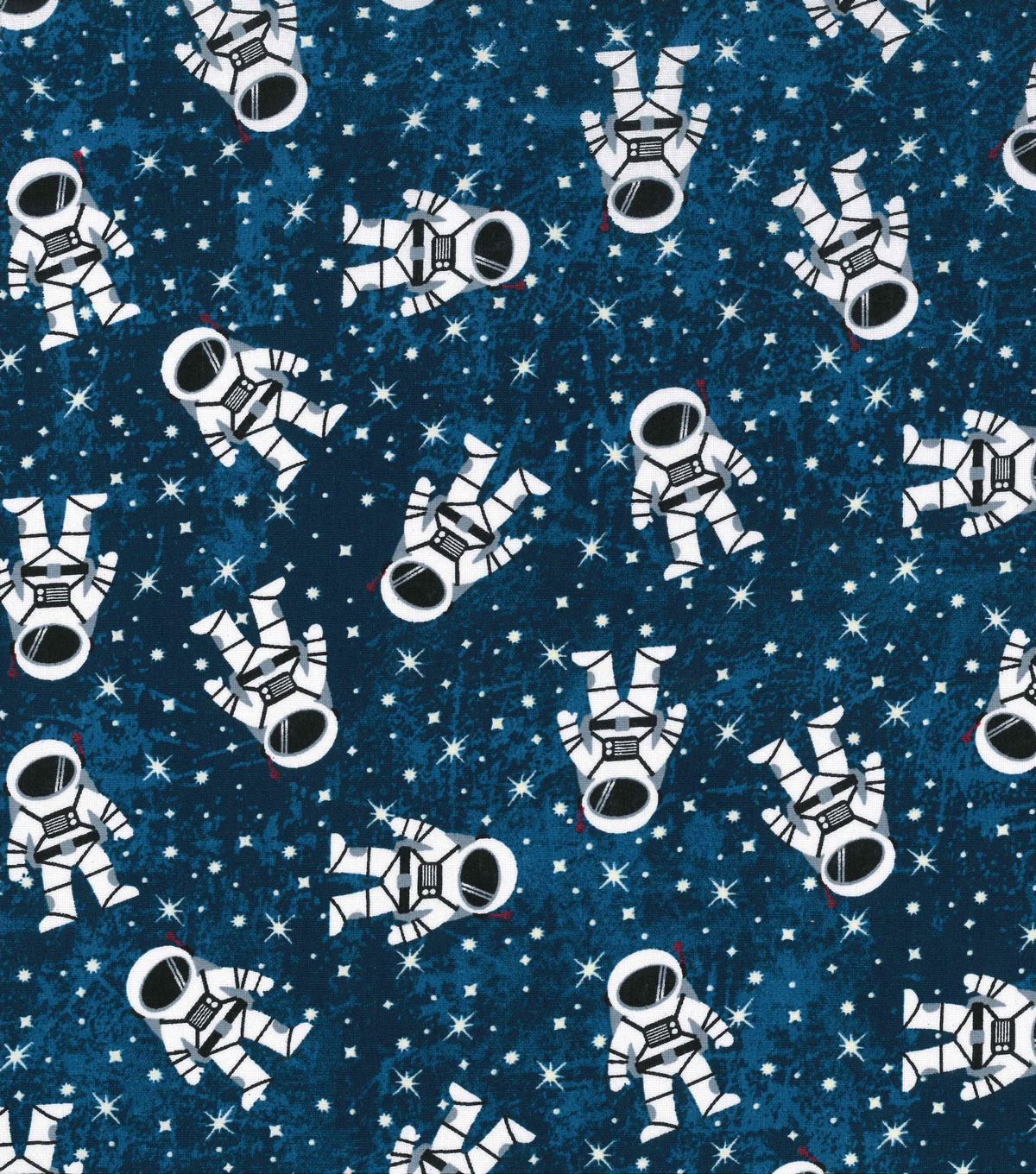Novelty Cotton Fabric 43\u0027\u0027-Astronaut in Space Glow