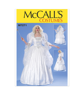 McCall\u0027s Pattern M7271-Boned Top, Full Skirt, Wings and Collar, Sizes 14-16-18-20-22