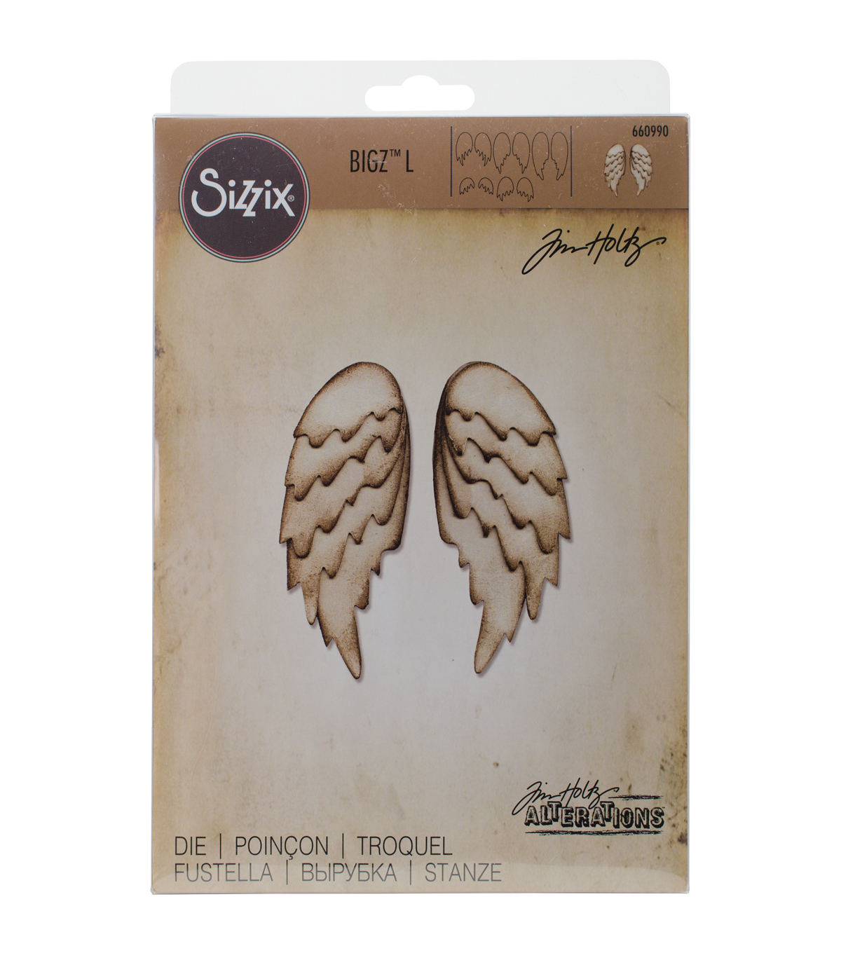 Sizzix Bigz Large Die-Feathered Wings