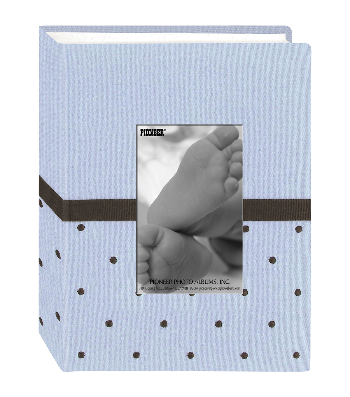 Baby Dot Fabric Frame 4x6 Photo Album 100 Pockets Bluebrown Joann