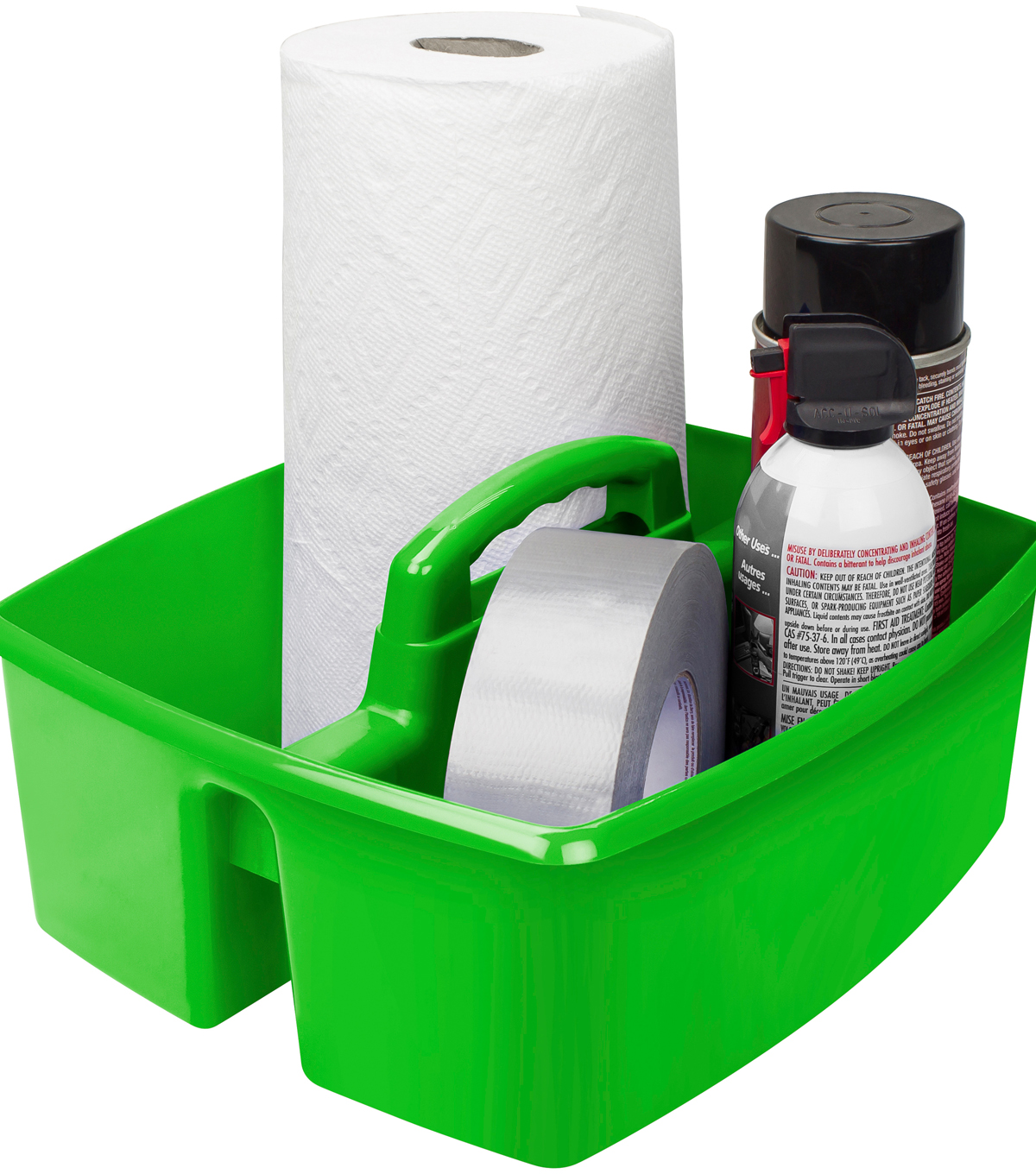 Storex Small 3-compartment Caddy-Green