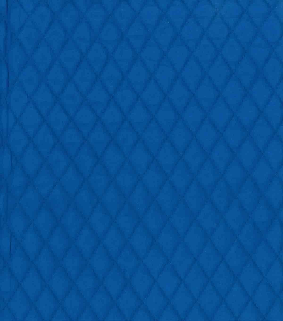 Country Classic Double Faced Quilt Cotton Fabric 42\u0027\u0027-Royal Blue Diamond