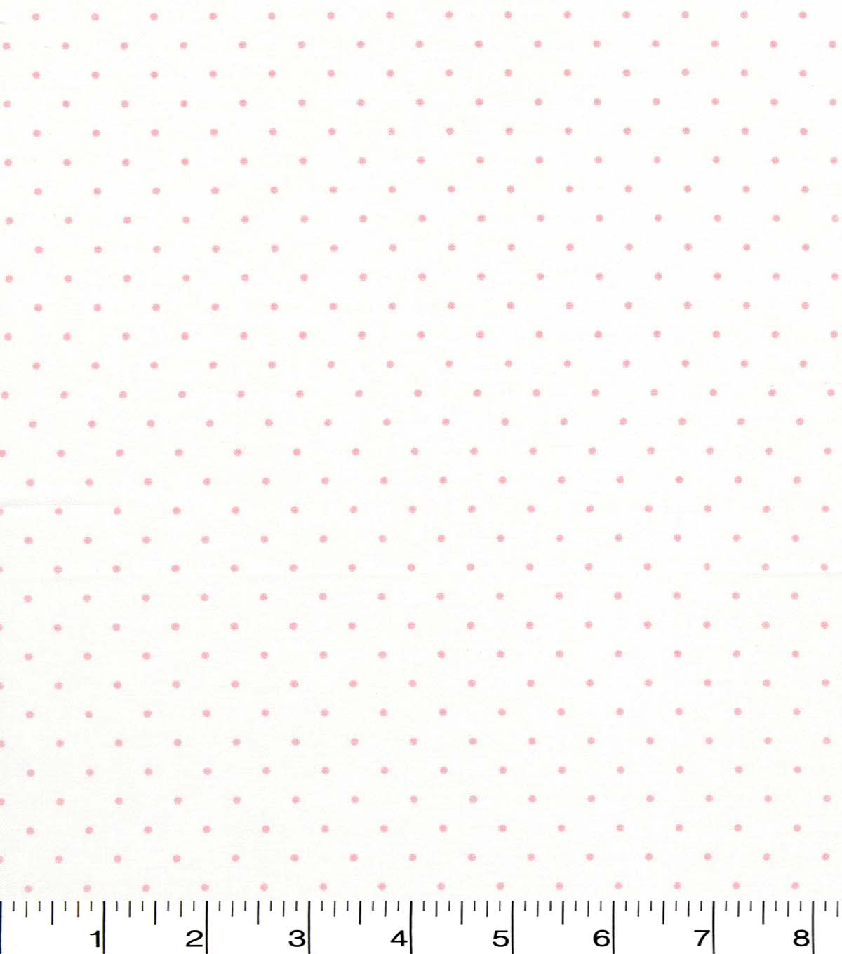 Quilter\u0027s Showcase Cotton Fabric -Light Pink Swiss Dots on White
