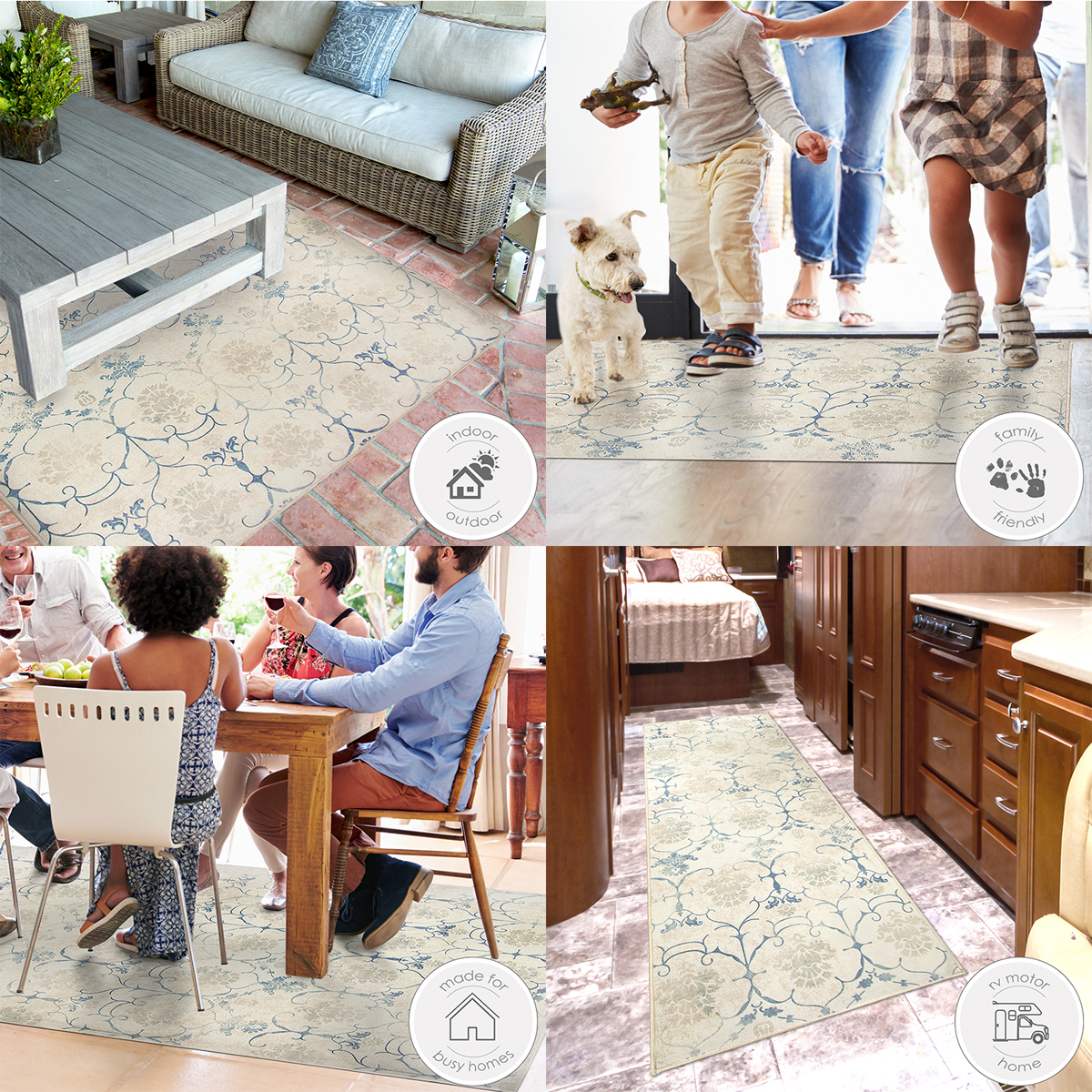 Ruggable Washable 2 5x7 Runner Rug Solid Textured Cream