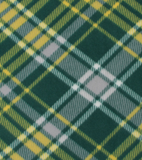 Blizzard Fleece Fabric-Kate Green & Yellow Plaid